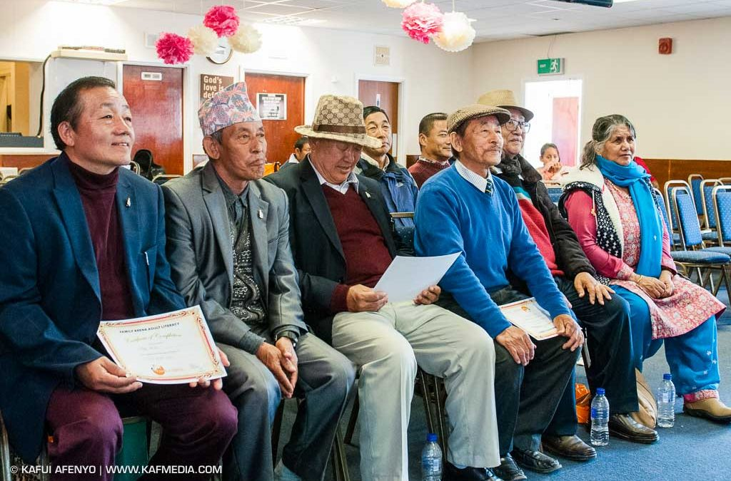 Adult Nepalese Learners Certificate Presentation